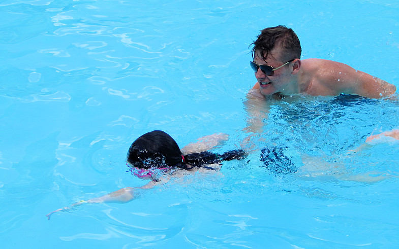 Swimming at Byram Summer Day Camp